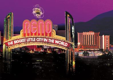 skyline with the Reno Arch and Circus Circus Reno