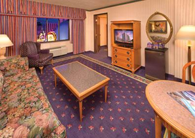 Living Room in a Mini Suite Room at Circus Circus