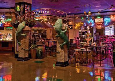 View outside of Dos Geckos Cantina Restaurant