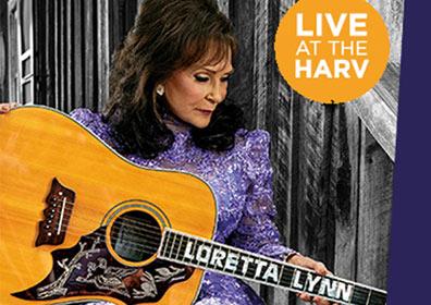 Loretta Lynn advertisement for her concert at the Harv September 10th