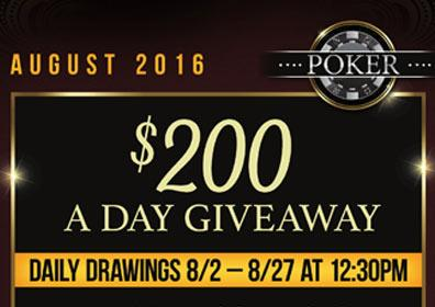 $200 A Day Giveaway advertisement