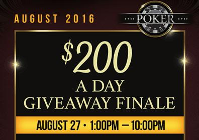 $200 A Day Giveaway Finale Advertisement with the date and time