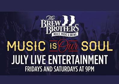 Brew Brothers Live Entertainment advertisement