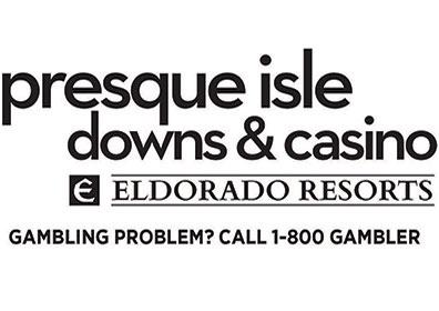 presque isle downs logo with gambling tag