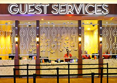 Photo of the Eldorado Scioto Downs Guest Services Desk