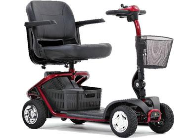 An empty Scooter mobility device