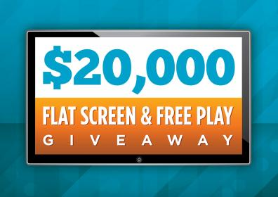 $20,000 Flat Screen & Free Play Giveaway Gaming Promotion
