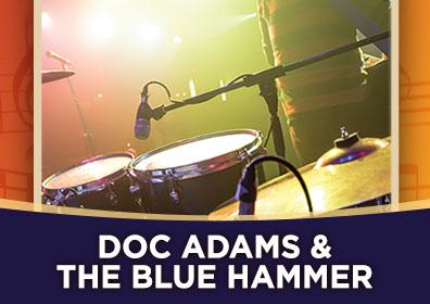 Advertisement for Rhythm & Brews at The Brew Brothers featuring Dock Adams & the Blues Hammer