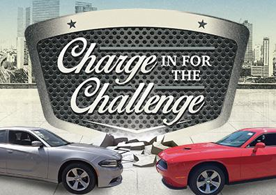Advertisement for Charge in for the Challenge Giveaway at Eldorado Scioto Downs