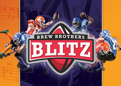 Advertisement for Brew Brothers Blitz at Eldorado Scioto Downs