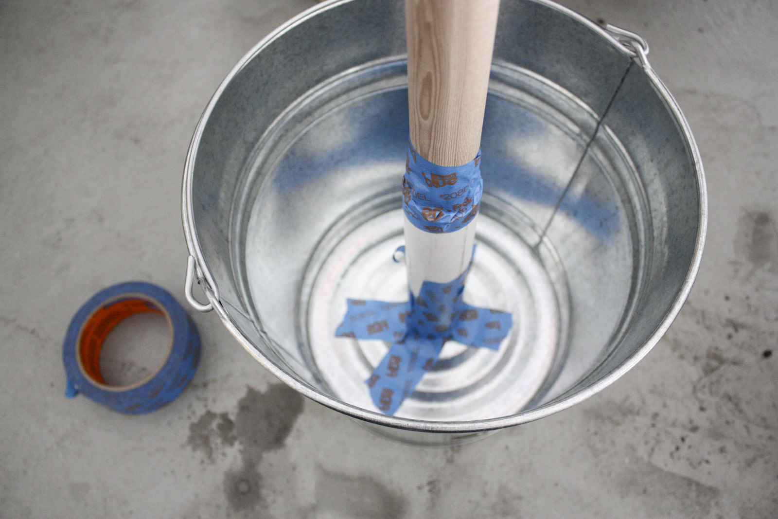 Conduit In Concrete Pole : Diy solution for hanging string lights dunn