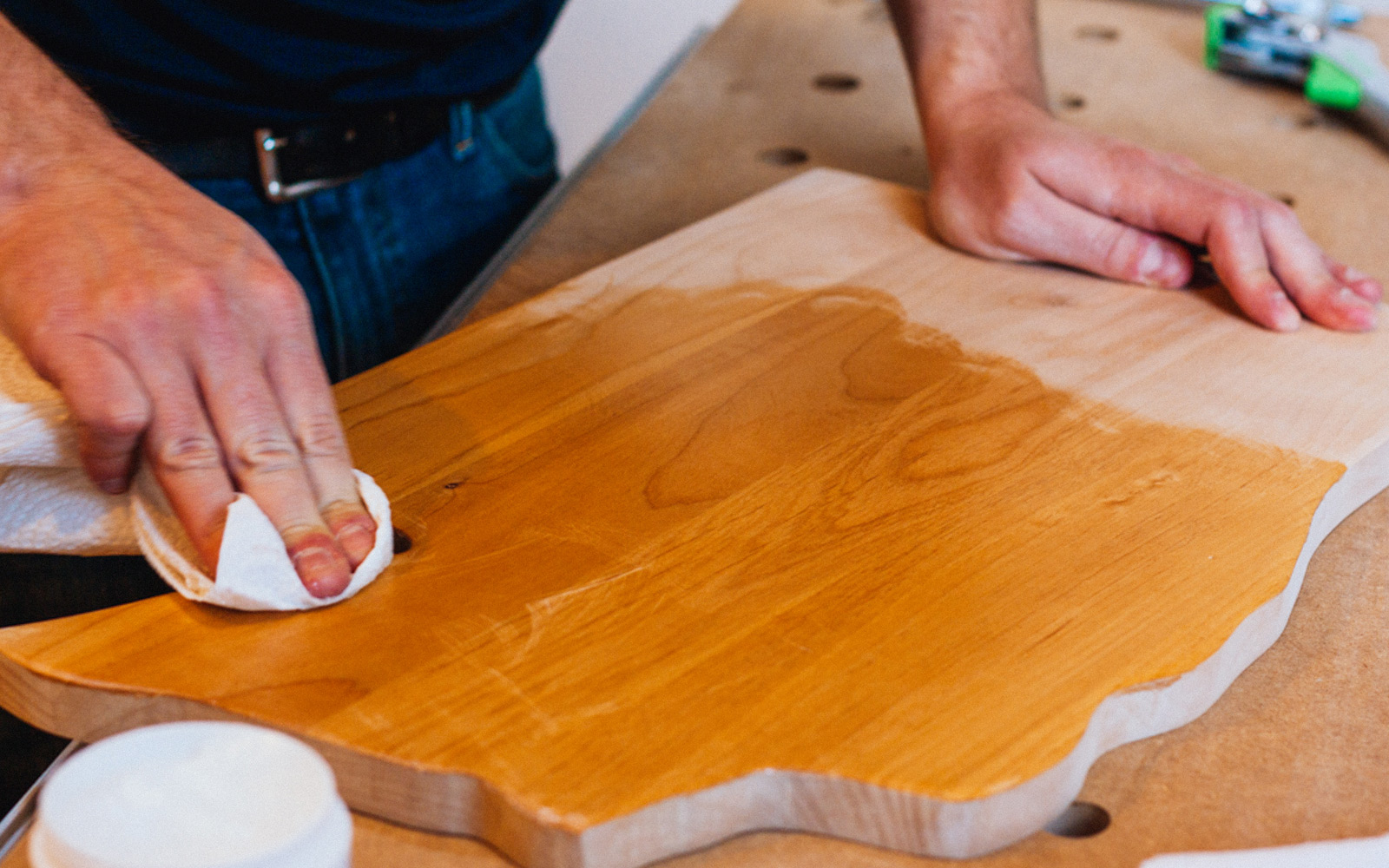 how to clean cutting board after raw meat