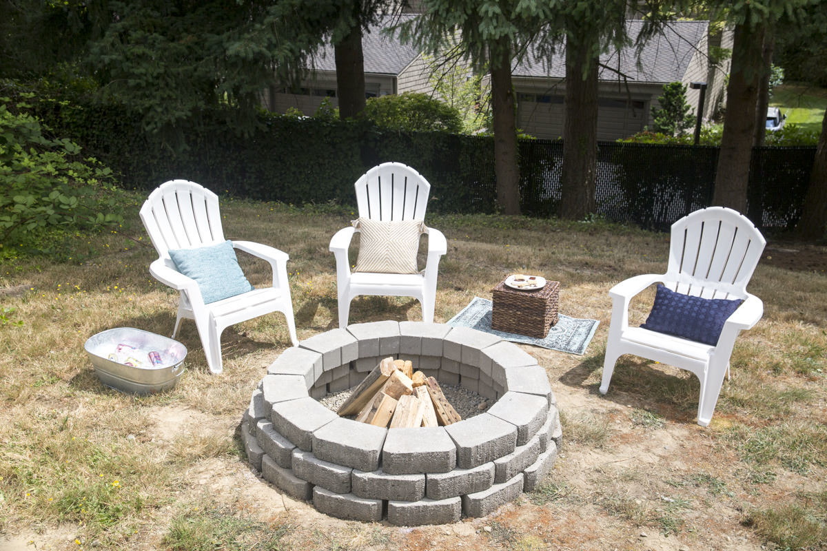 how to build an outdoor fire pit. Black Bedroom Furniture Sets. Home Design Ideas