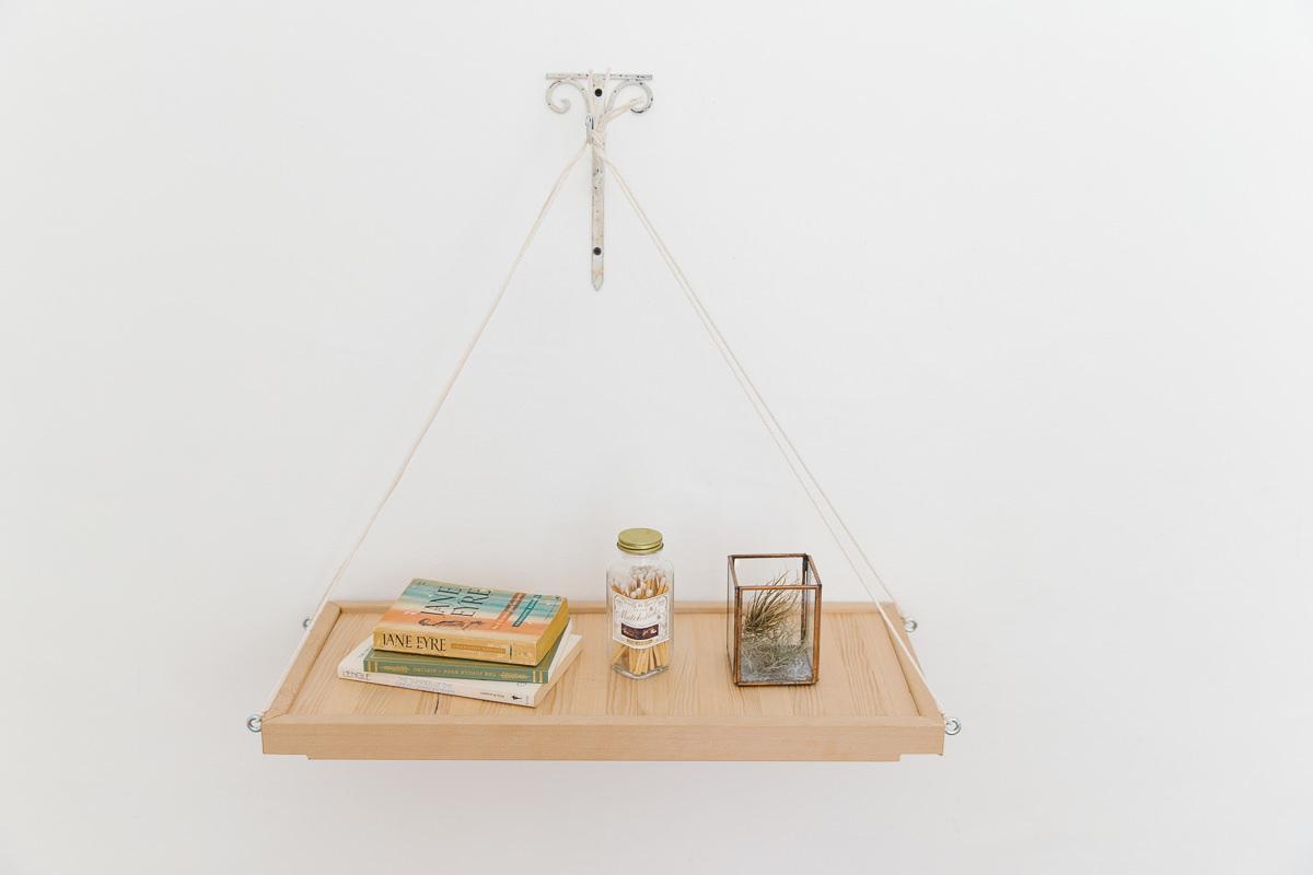 How to make a hanging shelf for How to make a hanging bookshelf