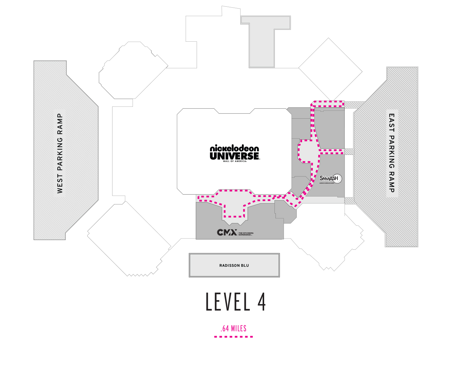 Level 4 Walking Map