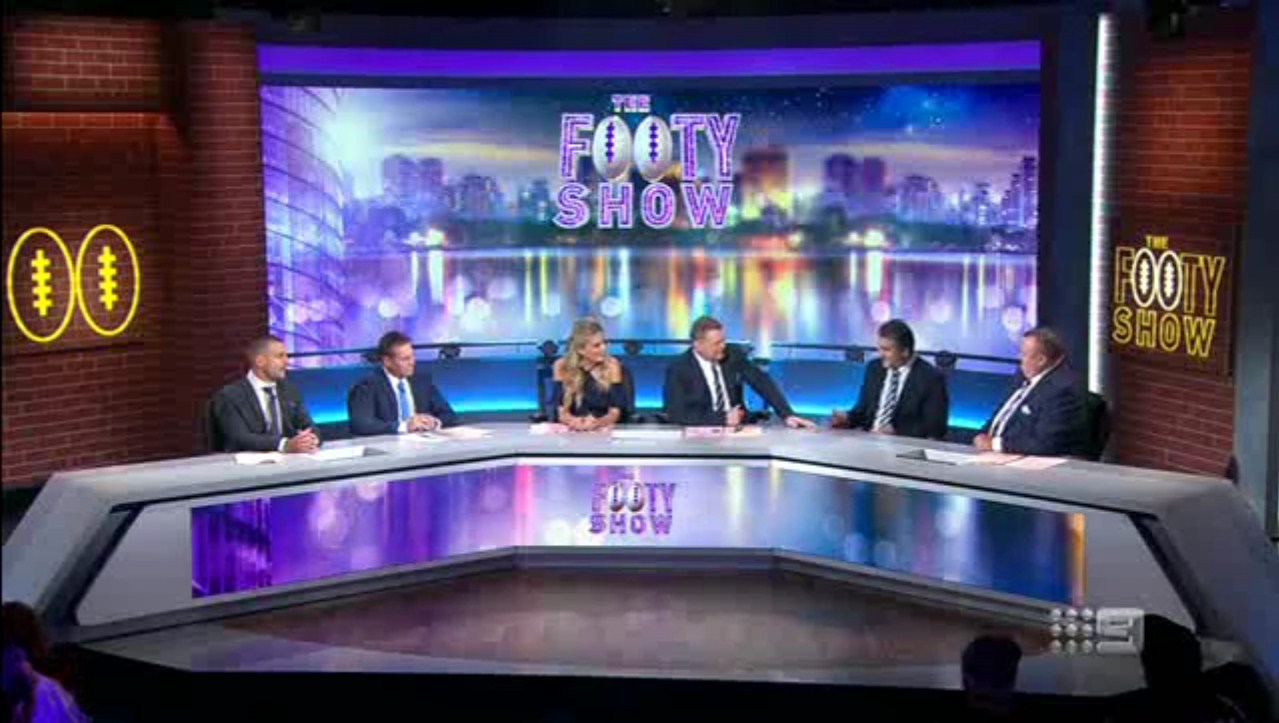 Channel 9's Footy Show mentions F45