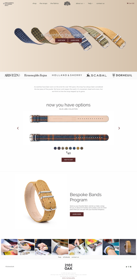 210 east oak straps