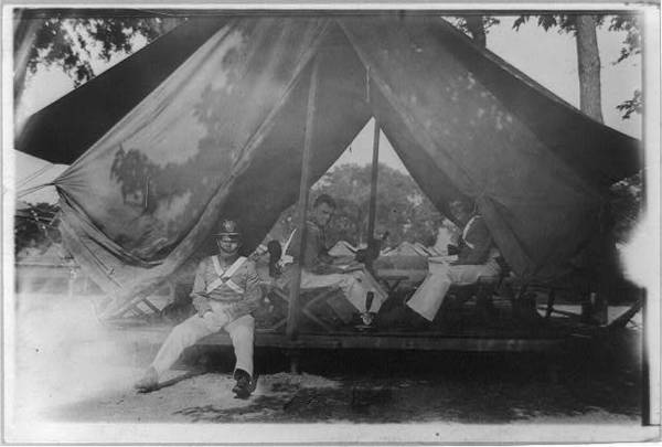 West Point: 3 cadets in tent
