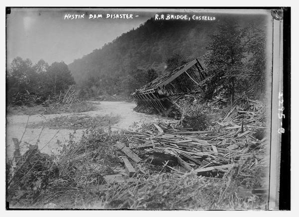 Austin Dam Disaster - RR Bridge, Costello