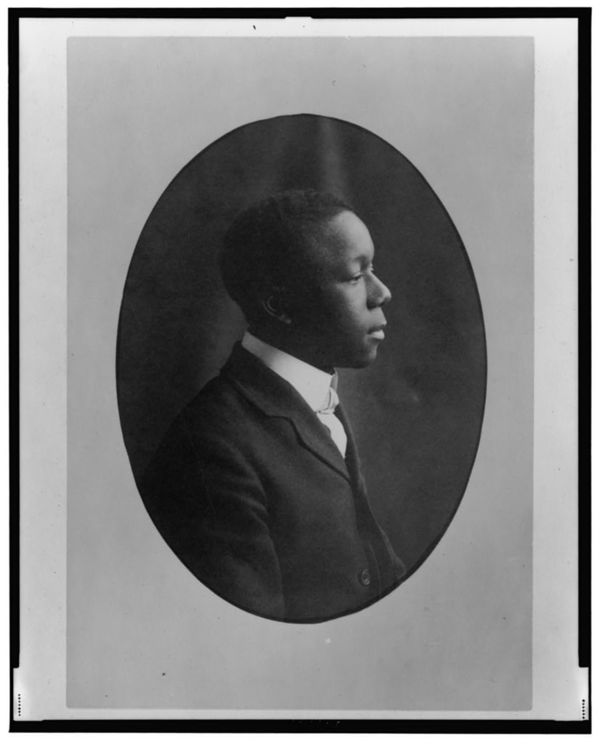 African American man, head-and-shoulders portrait, right profile