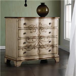 Hooker Furniture Melange Fluted Kidney Desk Of  Drawers At Baers