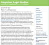 Empirical Legal Studies