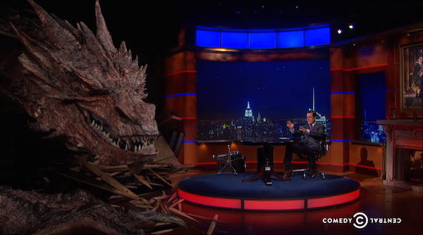 Smaug Visits Stephen Colbert and Yes, It's Benedict Cumberbatch
