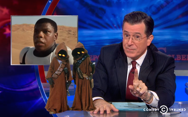 Watch Stephen Colbert Break Down the New Star Wars Trailer, Explain the Light Saber and Become a Giddy Fanboy