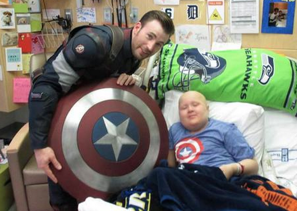 A Tale of Two Chris's Comes to an End: Chris Evans and Chris Pratt End Their Super Bowl Bet Adventure at Seattle Children's Hospital