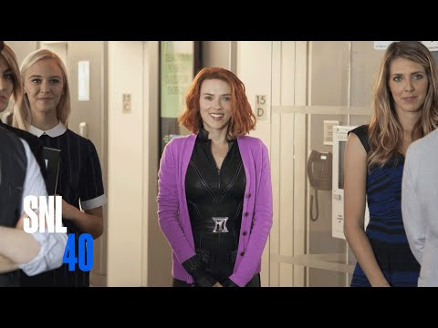 Scarlett Johansson on SNL: Black Widow Finally Gets a Stand Alone Film from Marvel and the Writers of 27 Dresses!