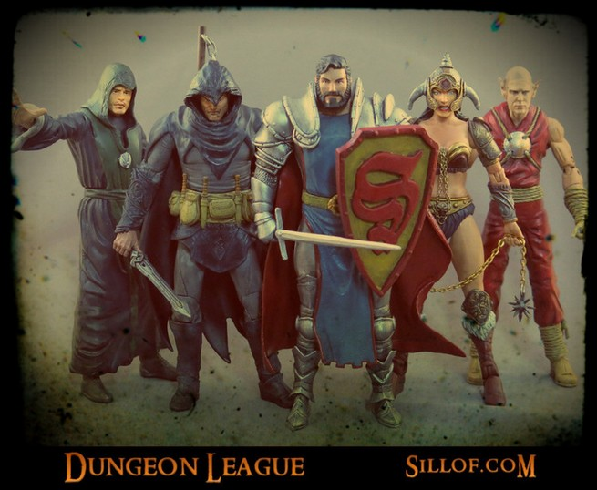 The Justice League Meets D&D in These Mash-Up Toys!