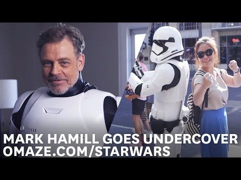 I Found Luke…Well Mark Hamill In A Stormtrooper Uniform For Charity!
