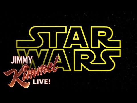 """Jimmy Kimmel Presents """"Star Wars: The Force Awakens"""" Altered for a Men's Rights Group"""