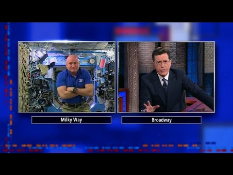 Stephen Colbert Interviews Astronaut Scott Kelly Who Is Currently Spending A Year in Space!