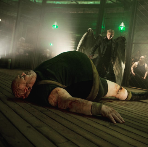 ANGEL FIGHTS THE BLOB IN THIS PICTURE FOR X-MEN: APOCALYPSE!