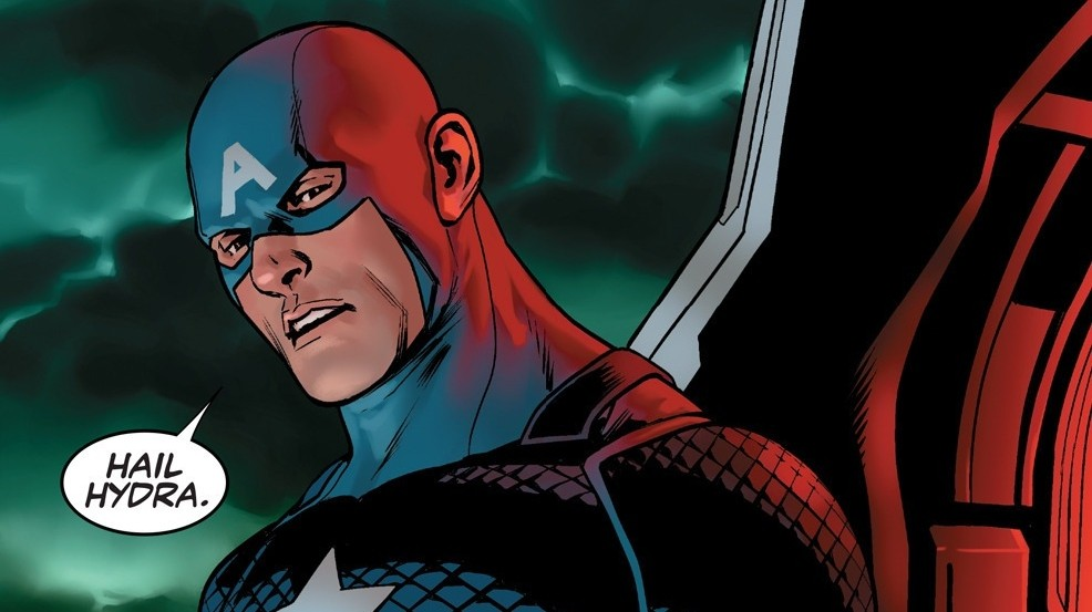 Captain America Isn't Sure How to React to Captain America in Hydra!