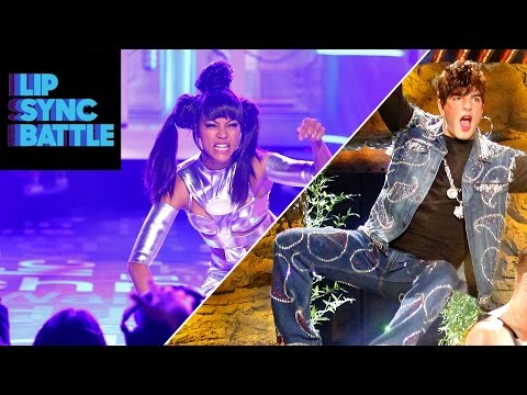 WATCH: Zoe Saldana and Zachary Quinto in Their Classic Match-Up on Lip Sync Battle – It's So Fun!