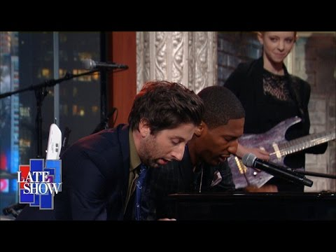 Simon Helberg Goes Toe To Toe With Jon Batiste On The Late Show With Stephen Colbert!