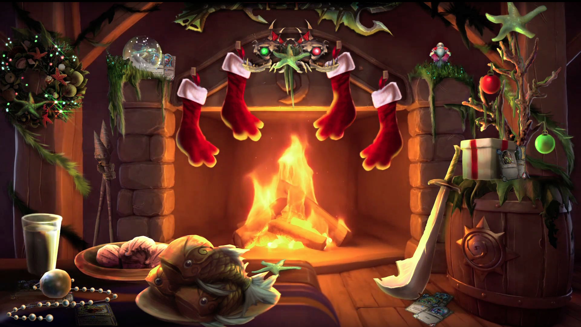 Spice up Your Holiday with the Blizzard Hearthstone Murloc Yule Log
