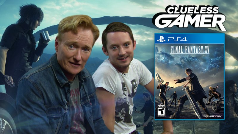 Conan And Elijah Wood Play The New Final Fantasy