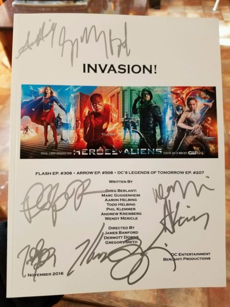 Signed Script for The CW's Crossover Event, Invasion!, Being Auctioned for Bill Mantlo Fund!