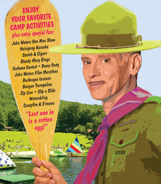John Waters Is Hosting a Summer Camp for Adults, Booze and Burlesque Included