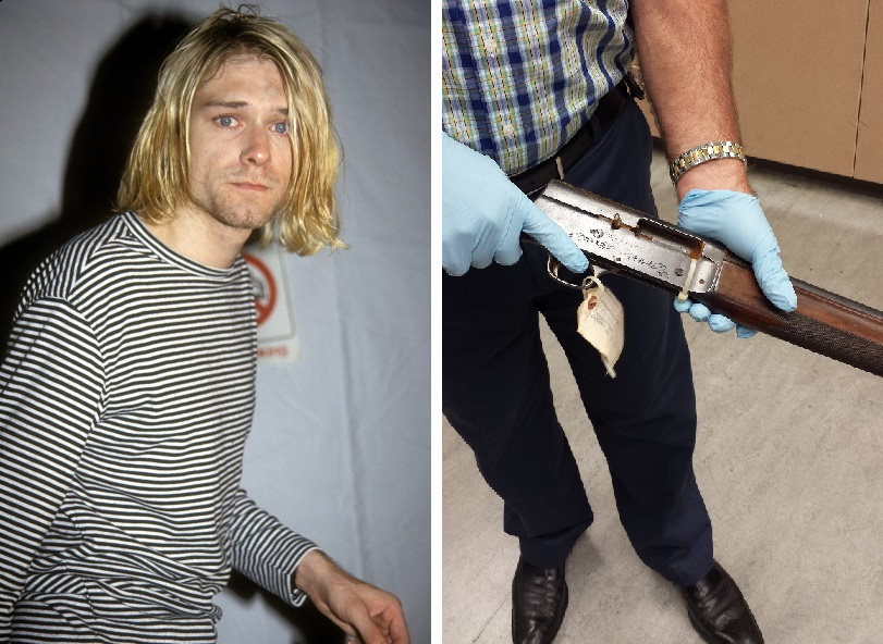 UNITED STATES - DECEMBER 22:  Kurt Cobain attending the 1993 MTV Video Music Awards at Universal City, CA 09/02/93  (Photo by Vinnie Zuffante/Getty Images)