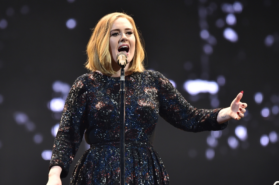 Adele performs on stage at the SSE Arena Belfast on February 29, 2016 in Belfast, Northern Ireland.