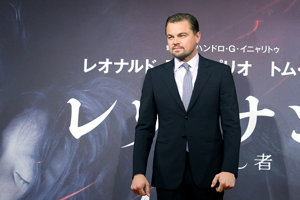 TOKYO, JAPAN - MARCH 23:  Leonardo DiCaprio attends the press conference for 'The Revenant' at the Ritz Carlton on March 23, 2016 in Tokyo, Japan.  (Photo by Yuriko Nakao/Getty Images)