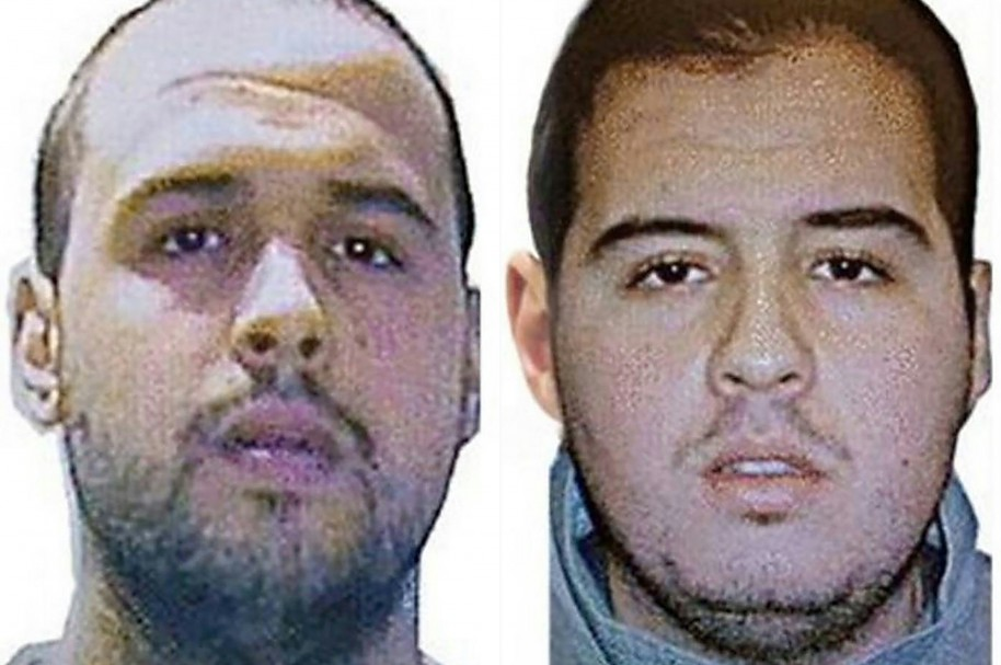 "(COMBO) This combination of handout pictures obtained via Interpol on March 23, 2016 shows Khalid (L) and Ibrahim (R) El Bakraoui, the two Belgian brothers identified as the suicide bombers who struck Brussels on March 22, 2016, as a manhunt for a third assailant in Belgium's bloodiest terror assault gained pace.  Two suicide blasts hit Brussels' Zaventem airport on March 22, 2016 morning followed soon after by a third on a train at Maalbeek station, close to the European Union's institutions, just as rush-hour commuters were heading to work. The triple blasts that killed some 30 people and left around 250 injured was claimed by the Islamic State jihadist group. / AFP / Interpol / - / RESTRICTED TO EDITORIAL USE - MANDATORY CREDIT ""AFP PHOTO / INTERPOL- NO MARKETING NO ADVERTISING CAMPAIGNS - DISTRIBUTED AS A SERVICE TO CLIENTS"