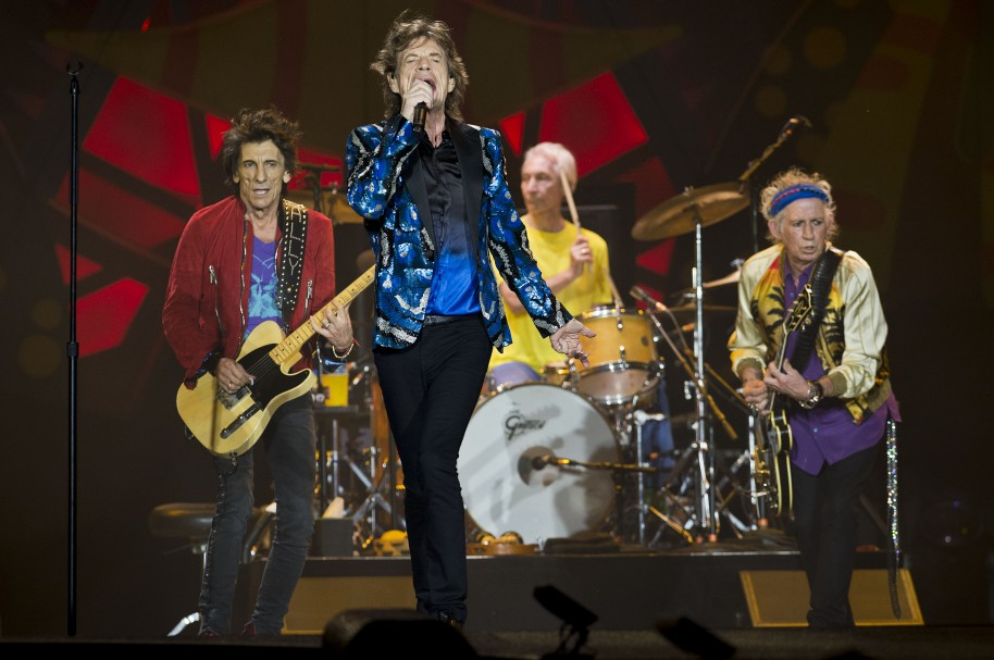 British rock band The Rolling Stones performs in concert during their Ole tour at Morumbi  stadium in Sao Paulo, Brazil, on February 24, 2016. AFP PHOTO / NELSON ALMEIDA / AFP / NELSON ALMEIDA