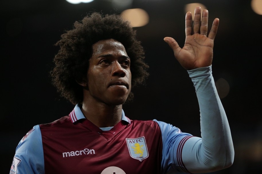 BIRMINGHAM, ENGLAND - NOVEMBER 28:  Carlos Sanchez of Aston Villa during the Barclays Premier League match between Aston Villa and Watford at Villa Park on November 28, 2015 in Birmingham, England.  (Photo by James Baylis - AMA/Getty Images)