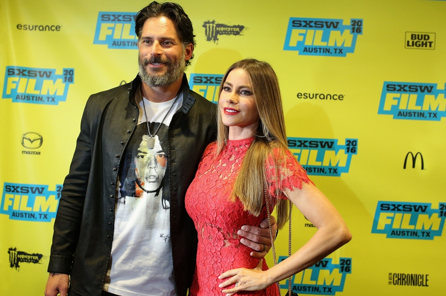 "AUSTIN, TX - MARCH 17:  Actors Joe Manganiello and Sofia Vergara attend the premiere of ""Pee-wee's Big Holiday"" during the 2016 SXSW Music, Film + Interactive Festival at Paramount Theatre on March 17, 2016 in Austin, Texas.  (Photo by Mike Windle/Getty Images for SXSW)"