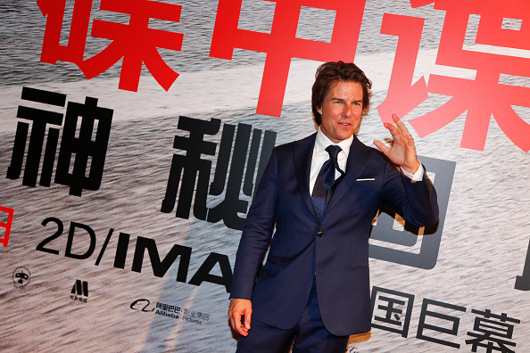 "SHANGHAI, CHINA - SEPTEMBER 06:  (CHINA OUT) American actor Tom Cruise poses during the premiere of Christopher McQuarrie's film ""Mission: Impossible - Rogue Nation"" at Shanghai Film Art Center on September 6, 2015 in Shanghai, China.  (Photo by ChinaFotoPress/ChinaFotoPress via Getty Images)"
